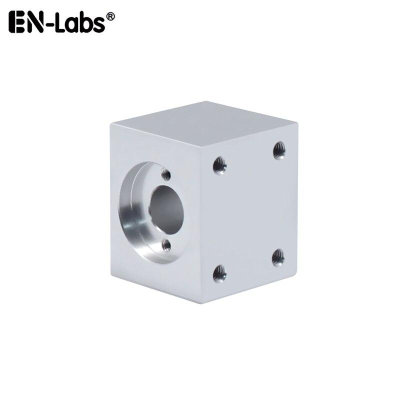 T8 soporte de tuerca de tornillo de plomo Trapezoidal para piezas de impresora 3D T8 varilla de Tornillo de montaje neto asiento de bloque de aluminio conversión espera