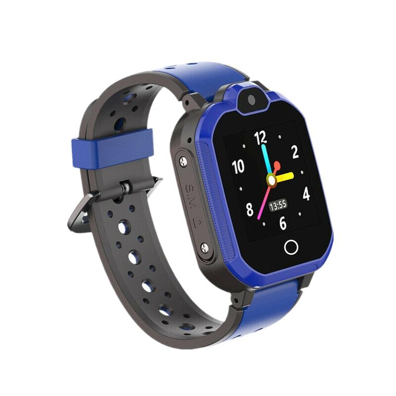 Reloj inteligente LT05 4G para niños videollamadas GPS WIFI SOS seguro a prueba de agua Bluetooth reloj inteligente para niños-azul