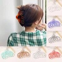 korean acetate hair claws big size wave shape hair crabs clip leopard grain hair clamps for women fashion hair accessories 2021