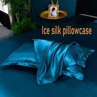 satin silk pillowcase pillow ice silk pillowcase ice cold double sided washing single double pillowcase home bedding pillow
