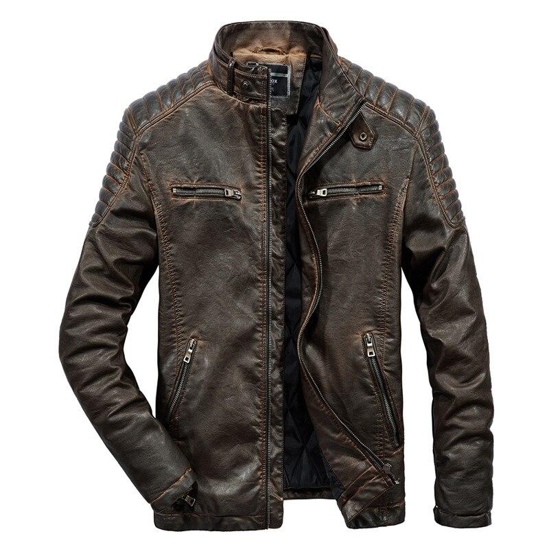 2021 سترة جلدية الرجال عالية الجودة فو سترة جلدية موضة دراجة نارية سترة الرجال عادية السائق بولي Fur معطف الفرو ملابس رجالي