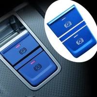 blue red silver electronic handbrake door lock central control button protection sticker decorative sticker for audi a6l