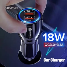 Dual USB Car Charger For iPhone XS X 7 8 11 12 Samsung S10 S9 S8 Mobile Phone Charger Car Cigar Ligh