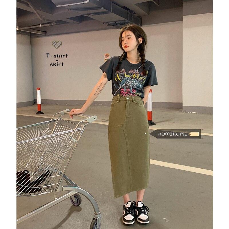 Grey Women T-shirt Women's Summer Printed Design Loose Short Sleeve Bottomed Shirt Sweet Cool Top