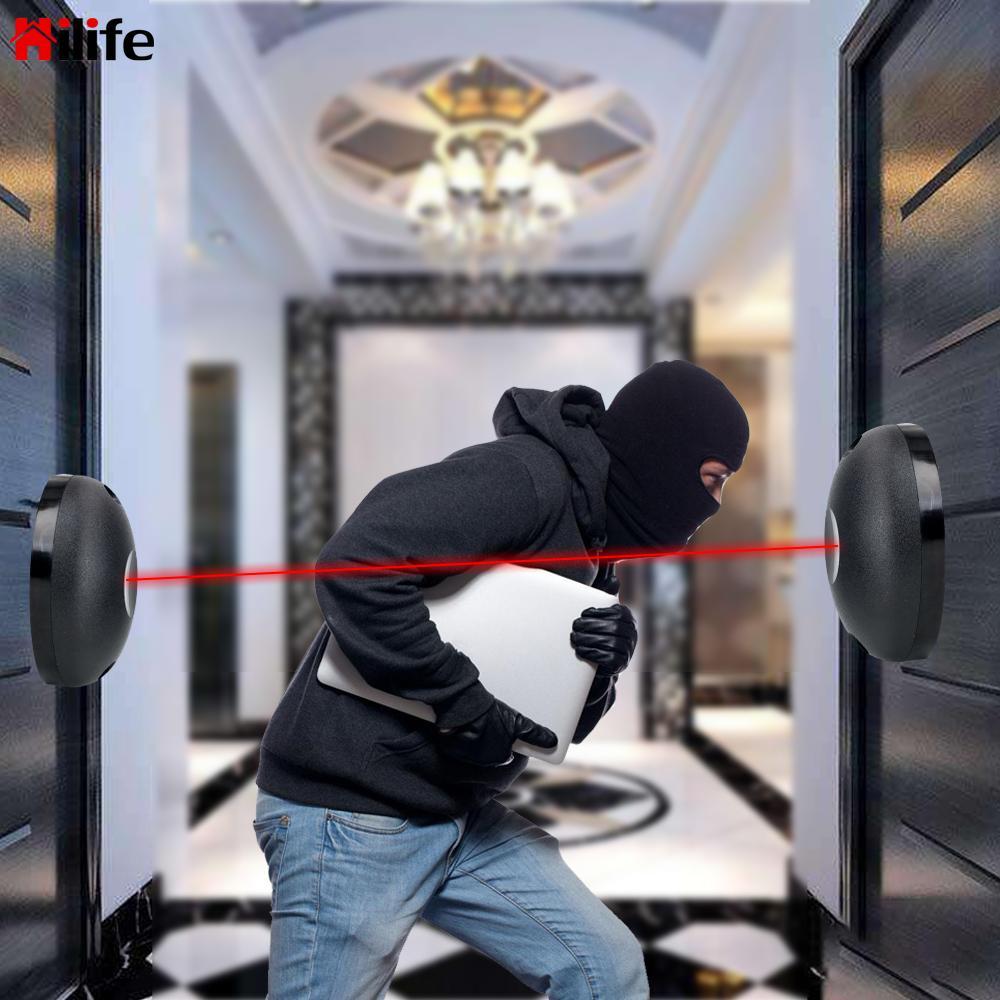 External Positioning Alarm Detector for Gates Doors Windows Against Hacking System Single Beam Infrared Radiation Sensor Barrier