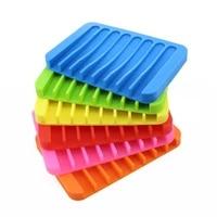 Plateau a savon antiderapant en Silicone  support de plaque  materiel de salle de bain  fournitures de cuisine flexibles  accessoires de maison