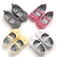 summer new soft cotton open toe infant toddler shoes cute bows pink princess baby girl shoes non slip cotton soled first walkers