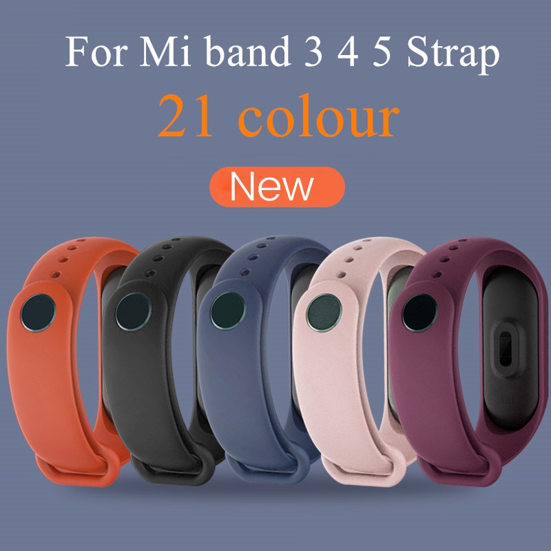 4 chigu double color accessories pulseira miband 2 strap replacement silicone wriststrap for m44258 181018 jia Silicone Wriststrap For Xiaomi mi band 5 4 3 Strap Accessories Pulseira Miband Replacement Smart Wrist Bracelet for Mi Band 5 4