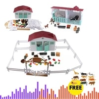 farm anime house simulation poultry animals set horse cow hen figurines farm zoo staffer action figures toys for kids xmas gift
