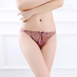Женские трусики, кружевные стринги, Бесшовные женские трусики с низкой талией, сексуальные стринги, женские модные трусы, женское сексуальное нижнее белье