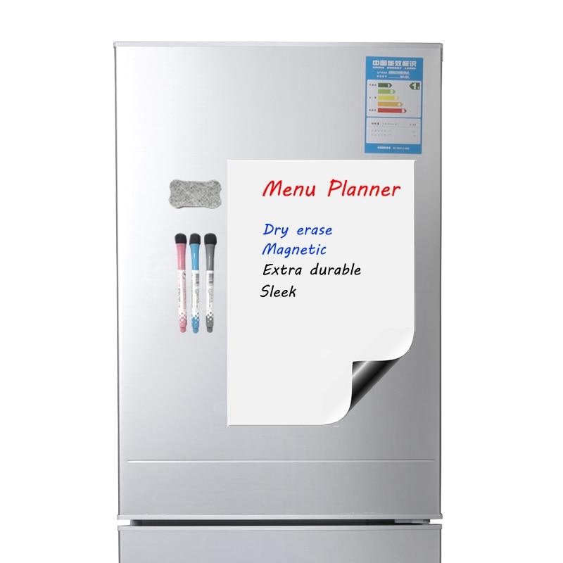 Магнитная доска для записей A4 мягкая магнитная доска, сухая стираемая доска для рисования и записи холодильника с бесплатным подарком (А4)