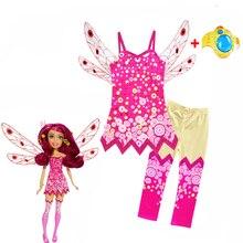 2019 conjuntos de ropa para niños MIA Halloween Cosplay disfraces chicas MIA y ME cumpleaños carnaval ropa mina anillo de mano