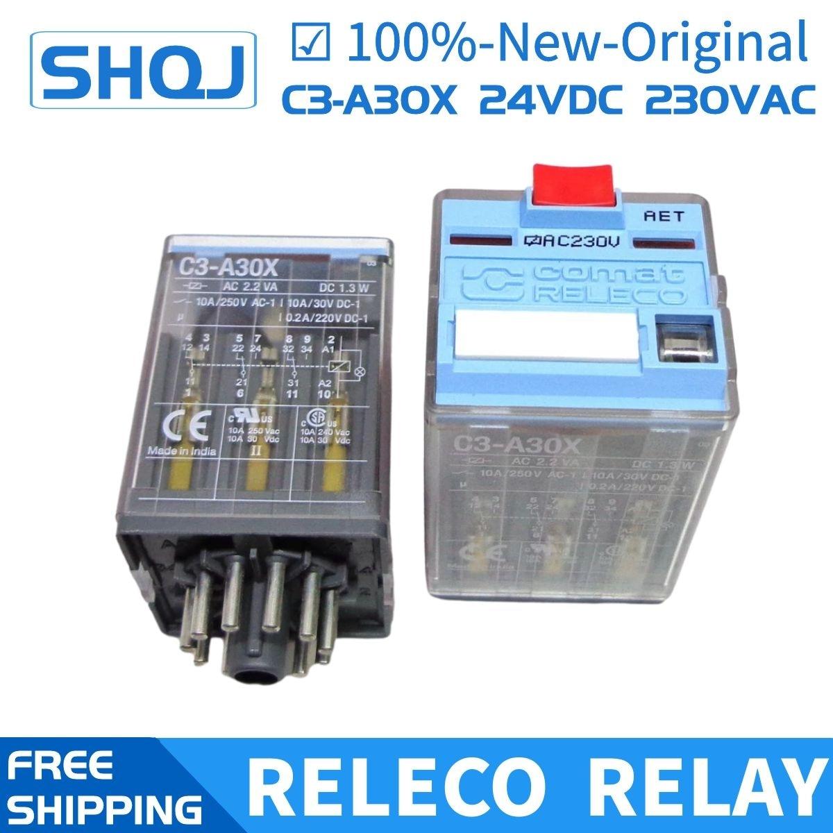 RELECO تتابع C3-A30X DC24V AC230V 10A 11PIN S3-S 100%-جديد-الأصلي