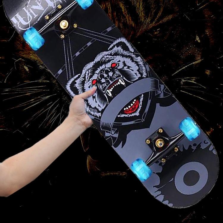 Кленовый Скейтборд для начинающих, оборудование Griptape, скейтборд с двойным рокером, Детские патиночки для скейта, уличные виды спорта, DK50SB