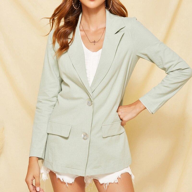 Plus Size XL Blazer Women Jacket Notched Collar Single Breasted Blazer Feminino Suit Coat Outerwear Blaser Femme Jacket