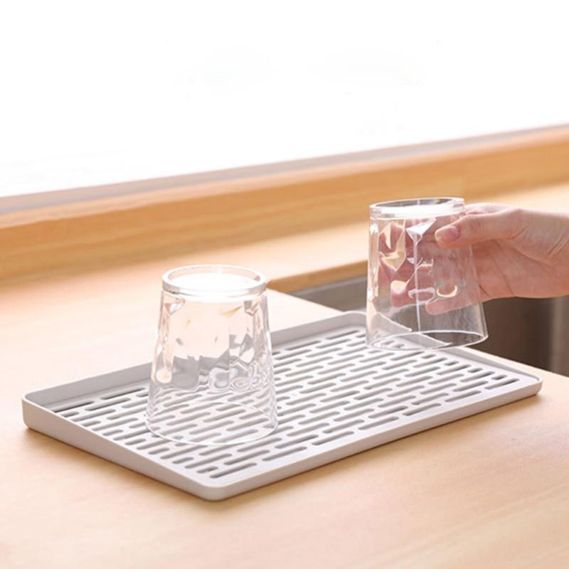 Silikon Welle Muster Isolierung Matte Küche Lagerung Teller Tasse Trocknen Rack Halter Abtropffläche Trockner Tablett Geschirr Wasser Drainning