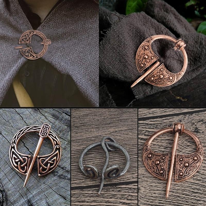 Broche vikingo de bronce, hebilla de cinturón hueco, broche en espiral, broche de broche, joyería nórdica de Retro Medieval