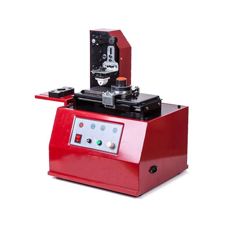 LY-380 220V قوة عظمى 100W البيئة شبه التلقائي الكهربائية سادة جولة الطباعة آلة طابعة الحبر للمنتج تاريخ