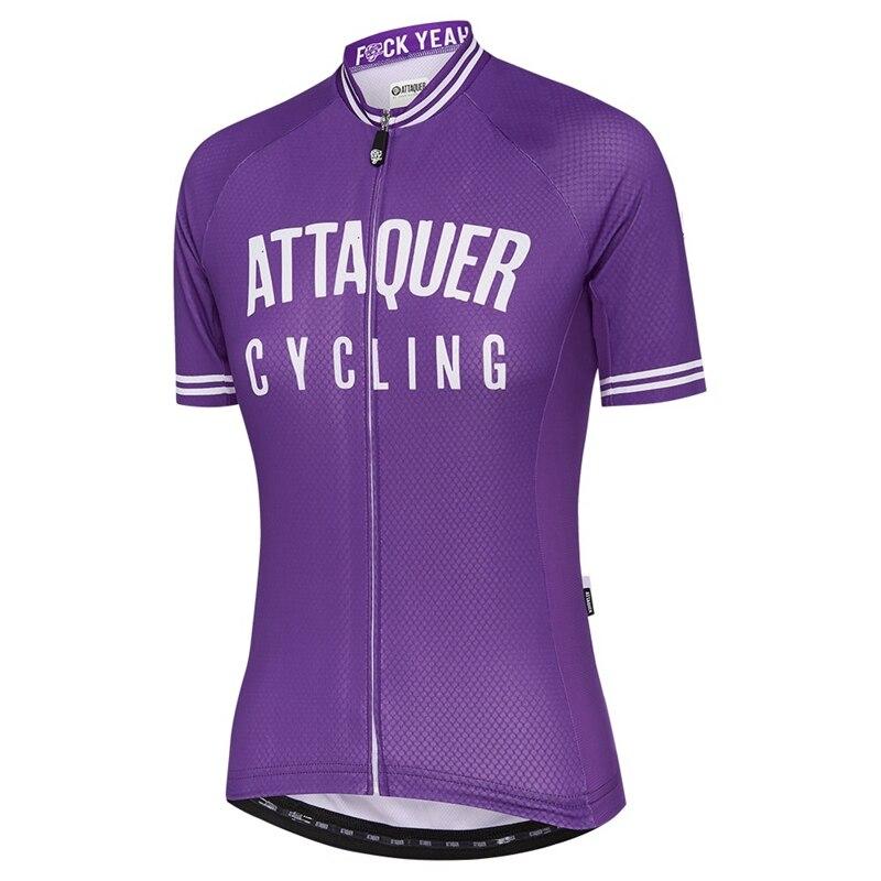 Attaquer-maillot de ciclismo para mujer, ropa de ciclismo de carreras, color morado,...