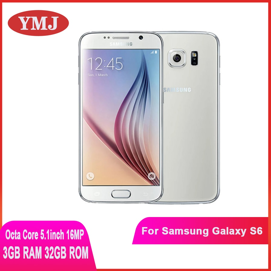 Samsung Galaxy S6 G920F G920V G920P Original S6 Unlocked Mobile Phone Octa Core 3GB RAM 32GB ROM 16MP 5.1