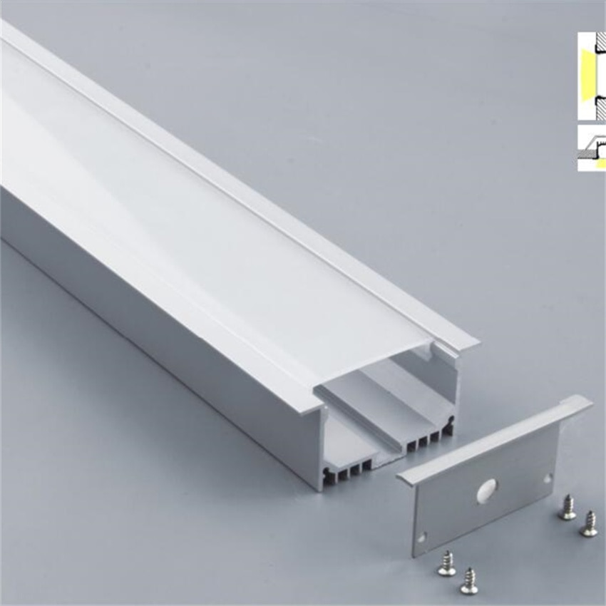 YANGMIN free   shipping 1M/PCS  high quality aluminum channel  with milky  cover and end caps and clips
