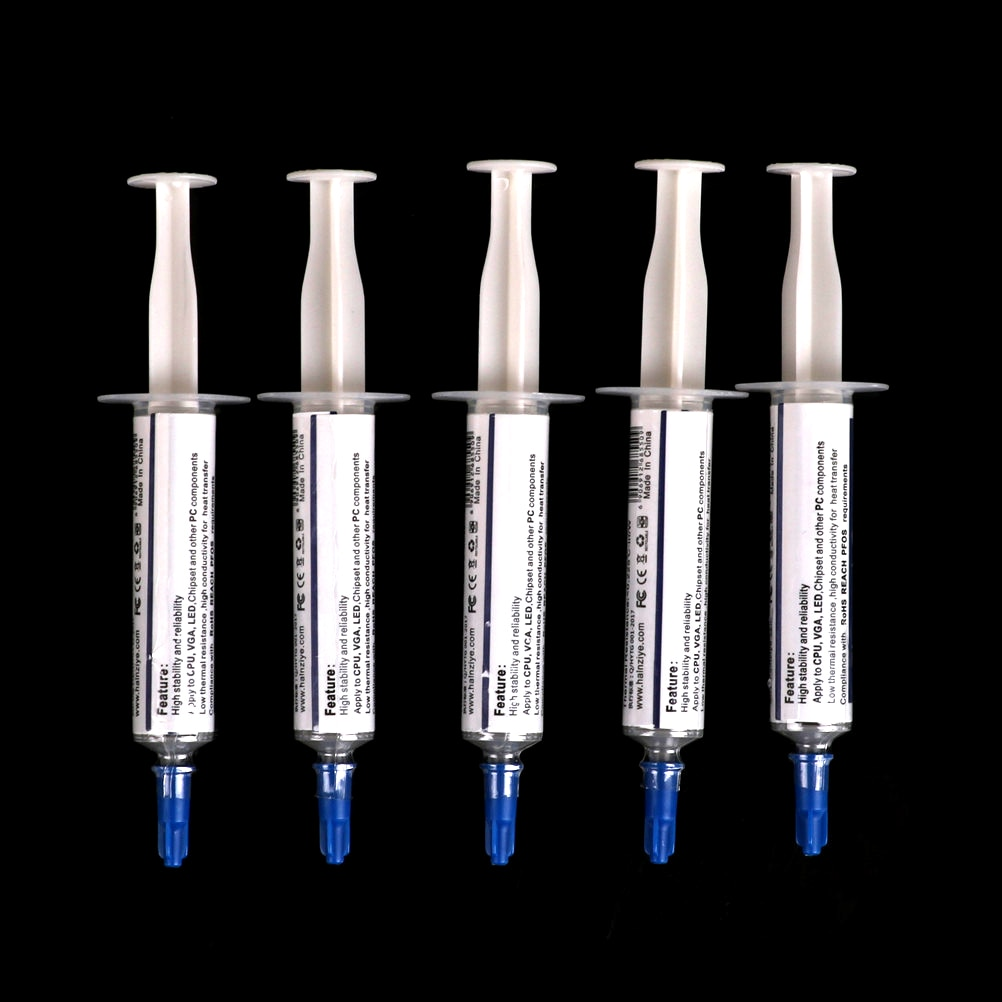 5pcs HY510 5g Thermal Grease Paste Compound Silicon Scraper CPU HeatSink Processor Cooling paste silicone Fan Thermal Paste