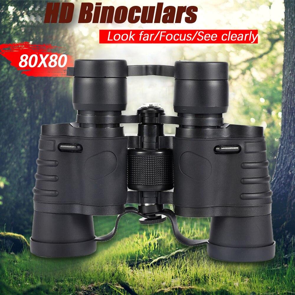 Профессиональный бинокль высокой мощности 80X80, мощный ночной бинокль с функцией ночного видения для охоты и путешествий, телескоп 35 мм
