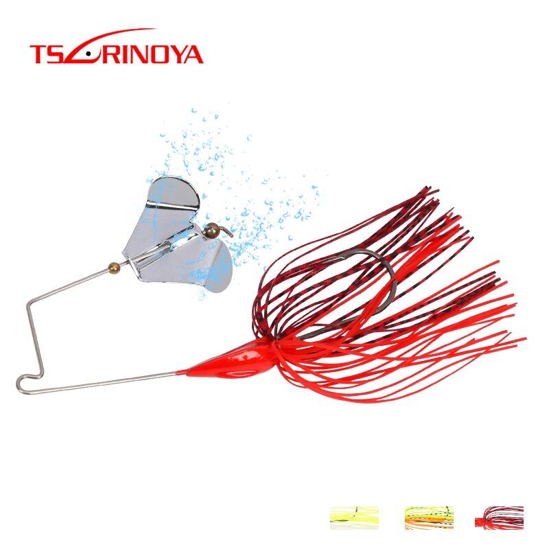 TSURINOYA Spinner cebos señuelo de Pesca 12g Isca Pesca Buzzbait Spinnerbait cuchara de goma Jig Heag señuelo de Pesca con gancho de púas