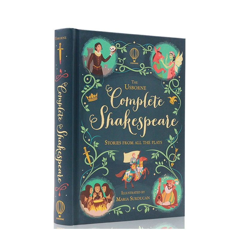 English Classic Novels, Shakespeare'S Complete Picture Book, Children'S Edition Hardcover Full-Color Illustrations livres/libro