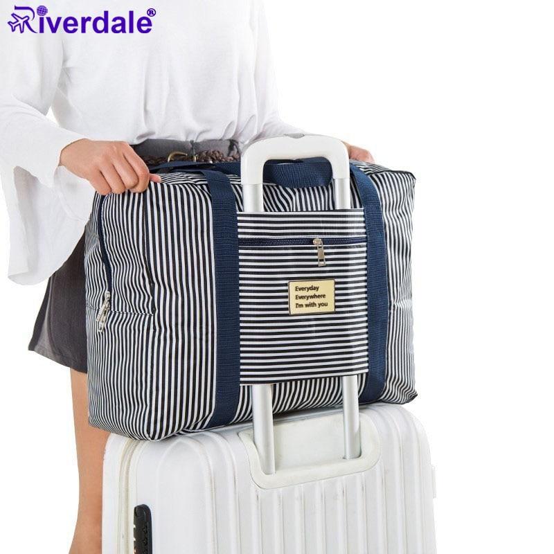 Marca Riverdale, bolsa de ropa de nailon resistente al agua, Maleta, equipaje Unisex, bolso de gran capacidad, bolso plegable para mujer, bolso de viaje