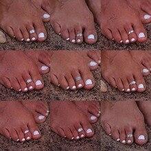 Bagues de pieds plaquées argent, style bohémien, rétro, style Boho, pour les doigts, ajustable, accessoire pour la plage, accessoire, été