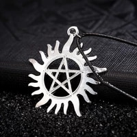 goddess of the earth pentagram symbol mens necklace fashion simple charm party body jewelry gifts free shipping
