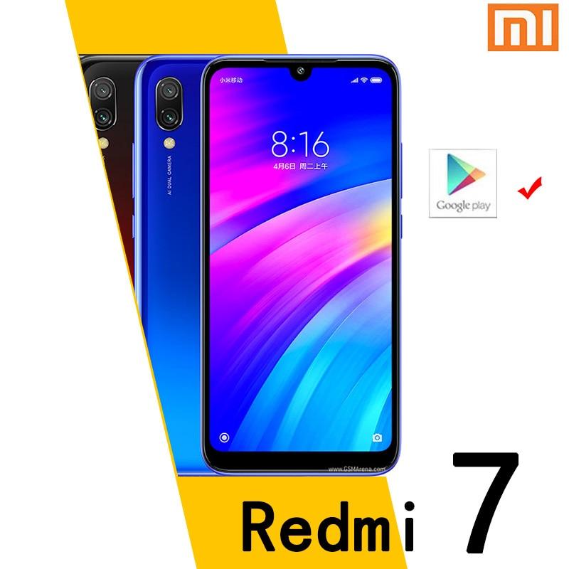 هاتف شاومي الذكي Redmi 7 4GB 64GB Googleplay أندرويد الهاتف المحمول 4000mAh بصمة