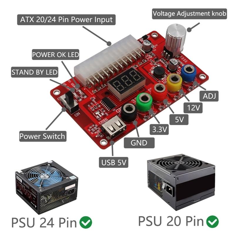 2021 New 24 Pin Regulator Adapter Desktop Computer PC Transfer Board Power Supply Module