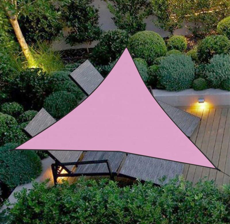 1pc triângulo fixo à prova dwaterproof água toldo dossel família pátio piscina sombra pano ao ar livre dossel jardim piscina sombra vela