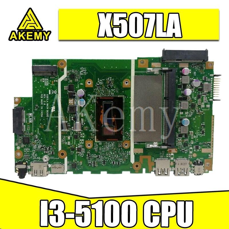X507LA placa base de Computadora Portátil para ASUS X507LA X507 original mianboard 100% prueba bien I3-5100 CPU