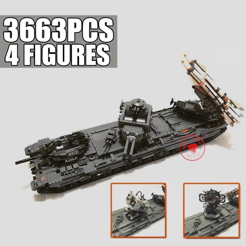 جديد العسكرية صاروخ اللعب سلسلة KV-2 بندقية دبابات نموذج Swat الطائرات الجندي أرقام اللبنات الطوب لعبة الأطفال طفل هدية