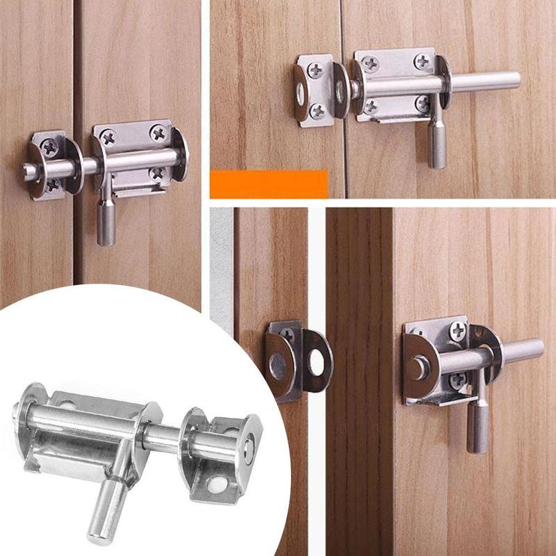 1 Uds., nuevo, Perno de puerta de acero inoxidable, tornillo pequeño de 1,5 pulgadas para el hogar y el baño, Perno deslizante de seguridad para puertas y ventanas