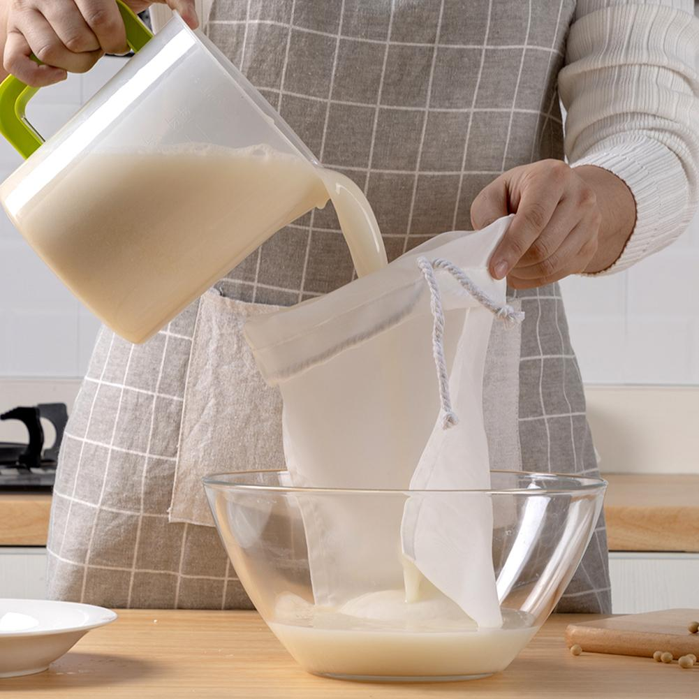 Saco de filtro de leite de amêndoa reutilizável saco de filtro de leite de amêndoa grosso saco de malha de filtro de alimentos para fermentação fria café ponto de filtragem dropshipping