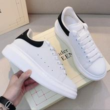 High-Quality Men's and Women's White Shoes, Casual Sports Shoes, Brand Leather Sneakers, Low-Top Fas