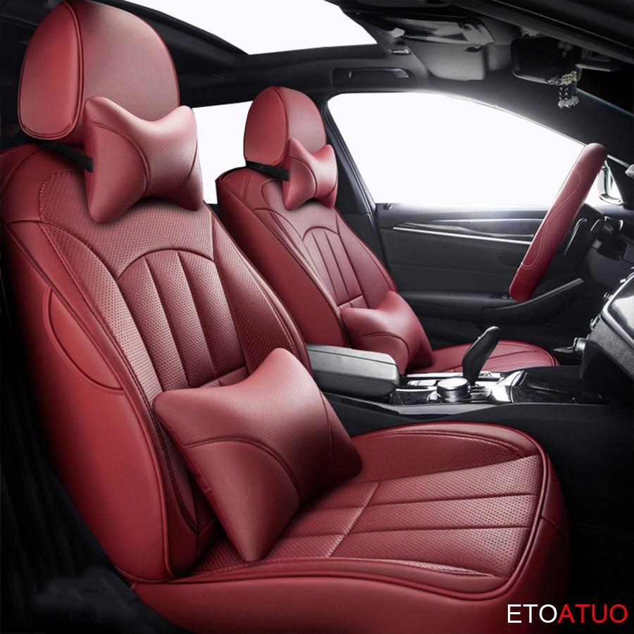 ETOATUO funda de asiento de coche personalizada para Jeep Wrangler JK Grand cheroki Commander Renegade cheroki Patriot Compass accesorios de coche