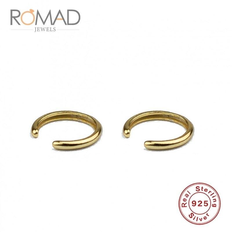 Pendiente de plata S925 a la moda para mujer sin Piercing pendiente sin agujero pendientes sin agujero Color oro/plata