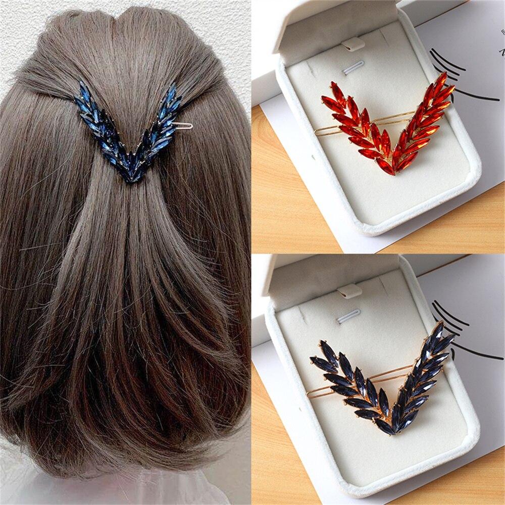 Crystal Hairpins Jewelry Headdress Half-tie Handband Girls Ornament Cubic Zircon Clips Hair Accessor