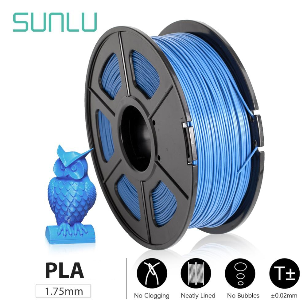 SUNLU PLA 3D Printer Filament 1.75mm 1KG/2.2lb Spool PLA PLUS Printer Filament Environmentally friendly harmless and degradable