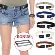 Easy Belt Without Buckle Elastic Belts For Women Stretch riem Men Jeans cintos extensible Kids Boys