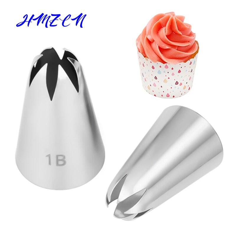HMZCN # 1B большой размер, насадка для крема, насадка для глазури, насадка для украшения торта, помадка, кондитерские изделия, выпечки, украшения