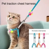 dog leashes with colorful ball pet dogs harness set canvas adjustable size small and medium pitbull leash supplies for dog