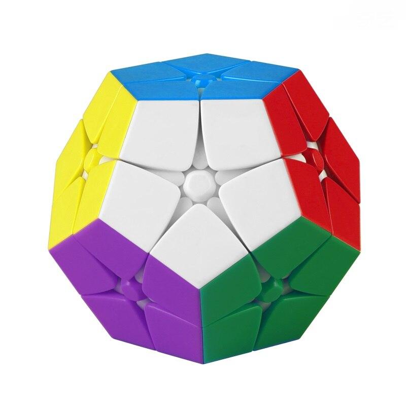 Qiyi-cubo mágico Mega 2x2 Wumofang, juguetes antiestrés, rompecabezas suave para niños, creatividad,...