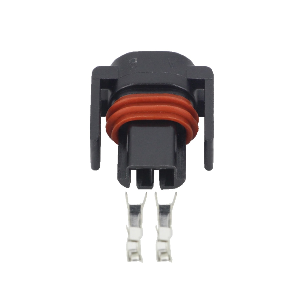 10pcs 5 pairs connector ends battery quick connector 50a 8awg plug with terminal pin new 2 Pin Automotive Wiring Harness Connector Plug Connector With Terminal DJ7027Y-1.5-21 2P