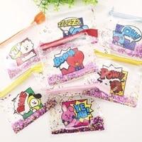 jcbtshquicksand coin purse glitter storage bag cosmetic bag jewelry bag cute cartoon animal illustration